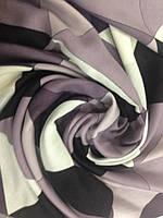 Палантин  кашемировый  абстрактный рисунок в сиреневых тонах, фото 1