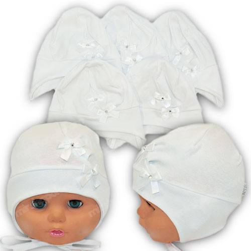 Трикотажная шапочка для новорожденного, р. 36-38, 38-40