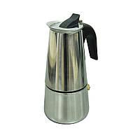 Кофеварка гейзерная стальная «Классика» на 6 персоны