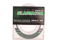 Шнур GLADIATOR (зелёный 4-х жильный) 100m/0.08mm
