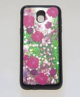4D противоударная накладка, цветы с блёстками, для Samsung J5 2017 J530