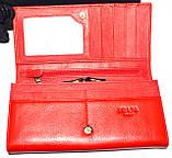 Женский черный кошелек Prada из натуральной кожи на кнопке, фото 2