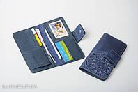 Кожаный кошелек ручной работы, качественный клатч-кошелек