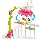 Мобиль музыкальный с проектором Цветок розовый Cotoons Fleur Pink Smoby 110112, фото 2