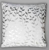 "Декоративная подушка ""Ветви. серебро"" 45х45 см"