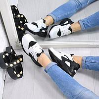 Кроссовки женские  белый + черный  Nike Huarache 4309