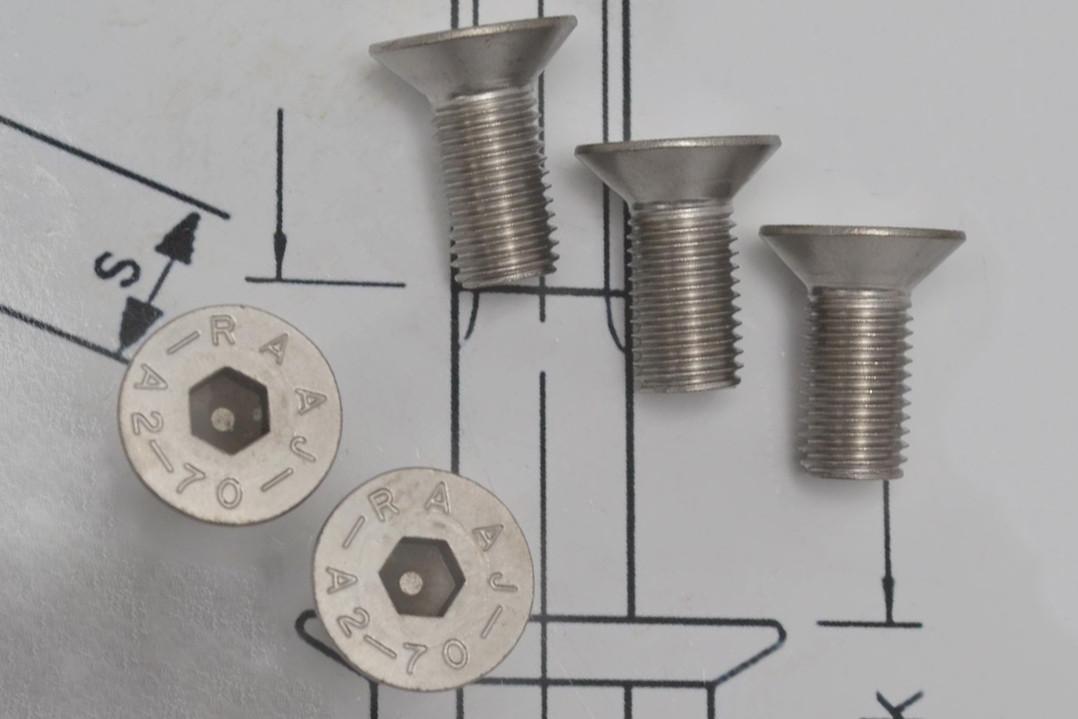 Винт М4 DIN 7991 из нержавеющей стали А2