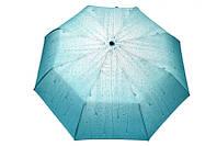 Модный зонт полуавтомат на 8 спиц с прямой ручкой с чехлом для хранения  системой анти-ветер рисунком капель