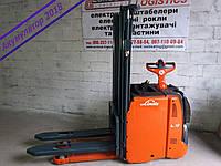 Штабелер электрический самоходный  LINDE L 12 L AP 2009г 1,2т 2.9м, фото 1