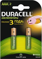 Аккумуляторы Duracell  ААА 750mAh, 2 шт.
