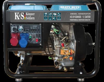 Генератор дизельный KONNER&SOHNEN KS 9100HDE-1/3 ATSR «HEAVY DUTY» 7.5кВт одно/трехфазный Германия