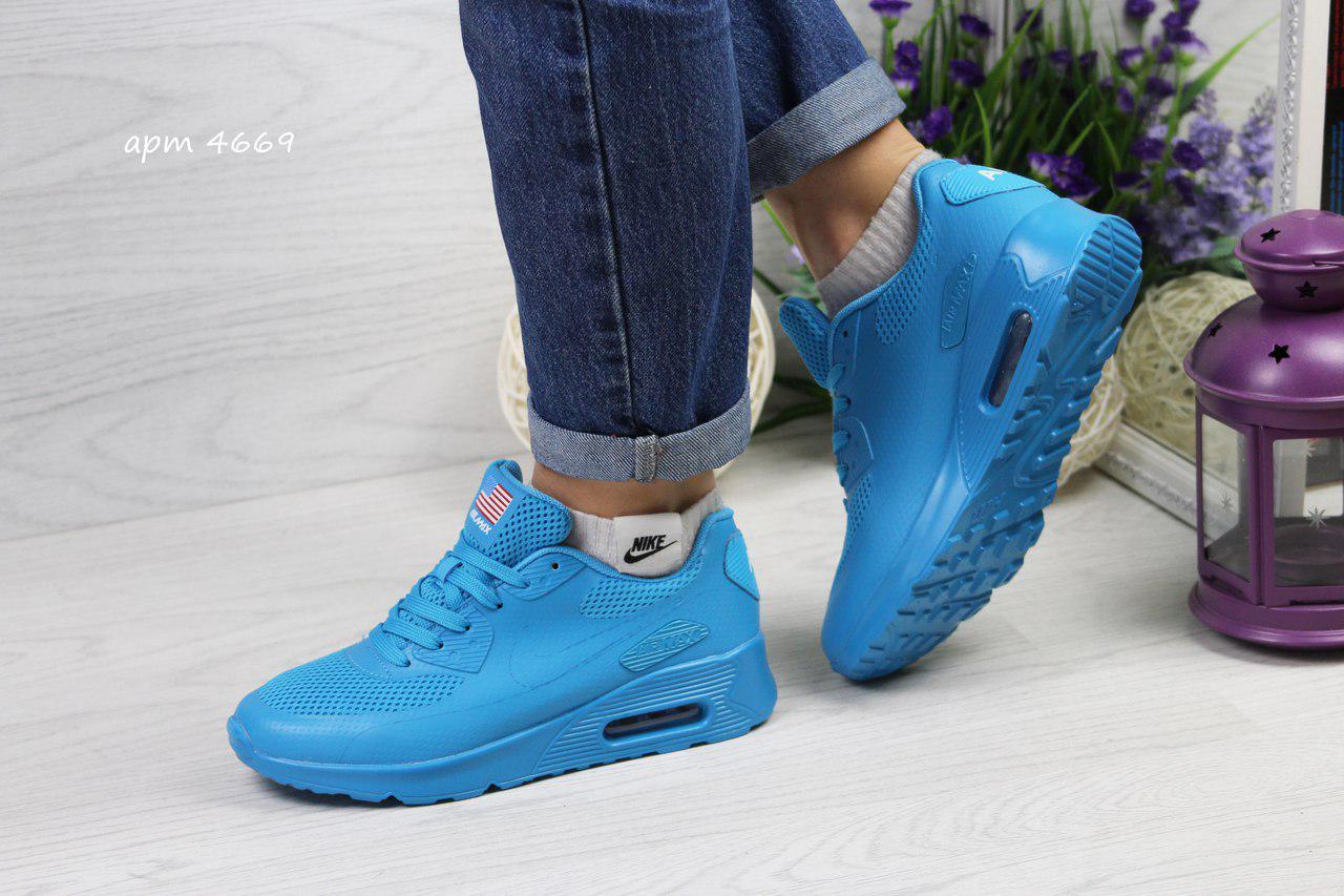 91928436 Голубые женские кроссовки Nike air max hyperfuse (Реплика) -  Интернет-магазин
