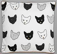 "Интерьерная подушка ""Коты"" 45х45 см"