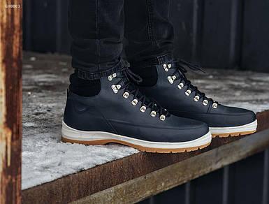 Мужские зимние темно-синие ботинки Staff mark boots navy fur GH0003