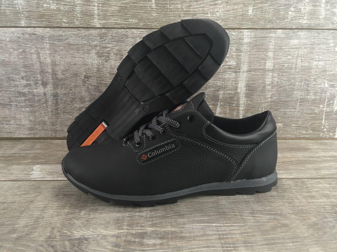 Мужские кожаные кроссовки Columbia код К-1 черные 44 - Интернет-магазин  обуви