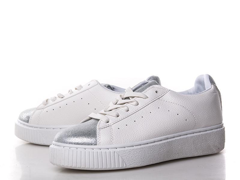 da5069299d27 Женские кроссовки (кеды криперы ботинки) белые серебристые (носок и задник  ...