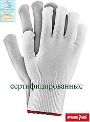 Защитные перчатки изготовленные из нейлона, снабженные резинкой RPOLY W