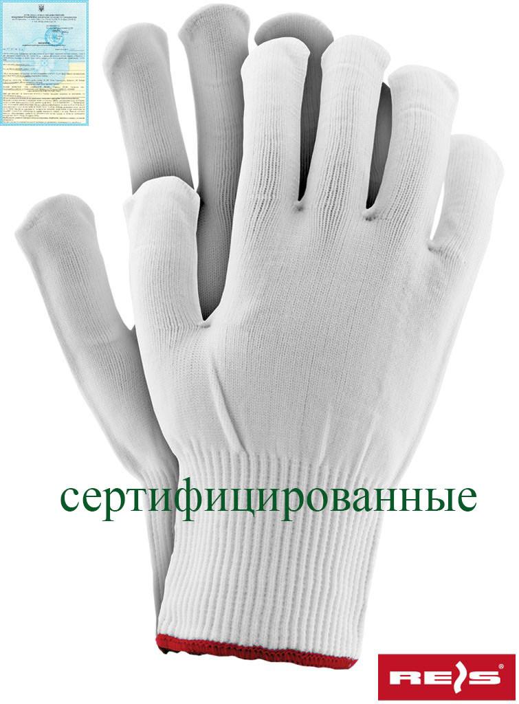 Захисні рукавички виготовлені з нейлону, забезпечені гумкою RPOLY W