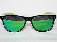 57063ae8638f Зеркальные очки Ray San Wayfarer салатовые (бензин, дифракция), цена ...