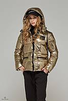 Куртка стеганая демисезонная золото