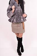 Полушубок женский из натурального меха (цв.пепельный) KNQER 8813 Размер:46