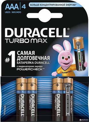 Батарейки Duracell Turbo Max AAA, 4 шт., фото 2