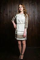 Вышитое платье для девочки-подростка лён