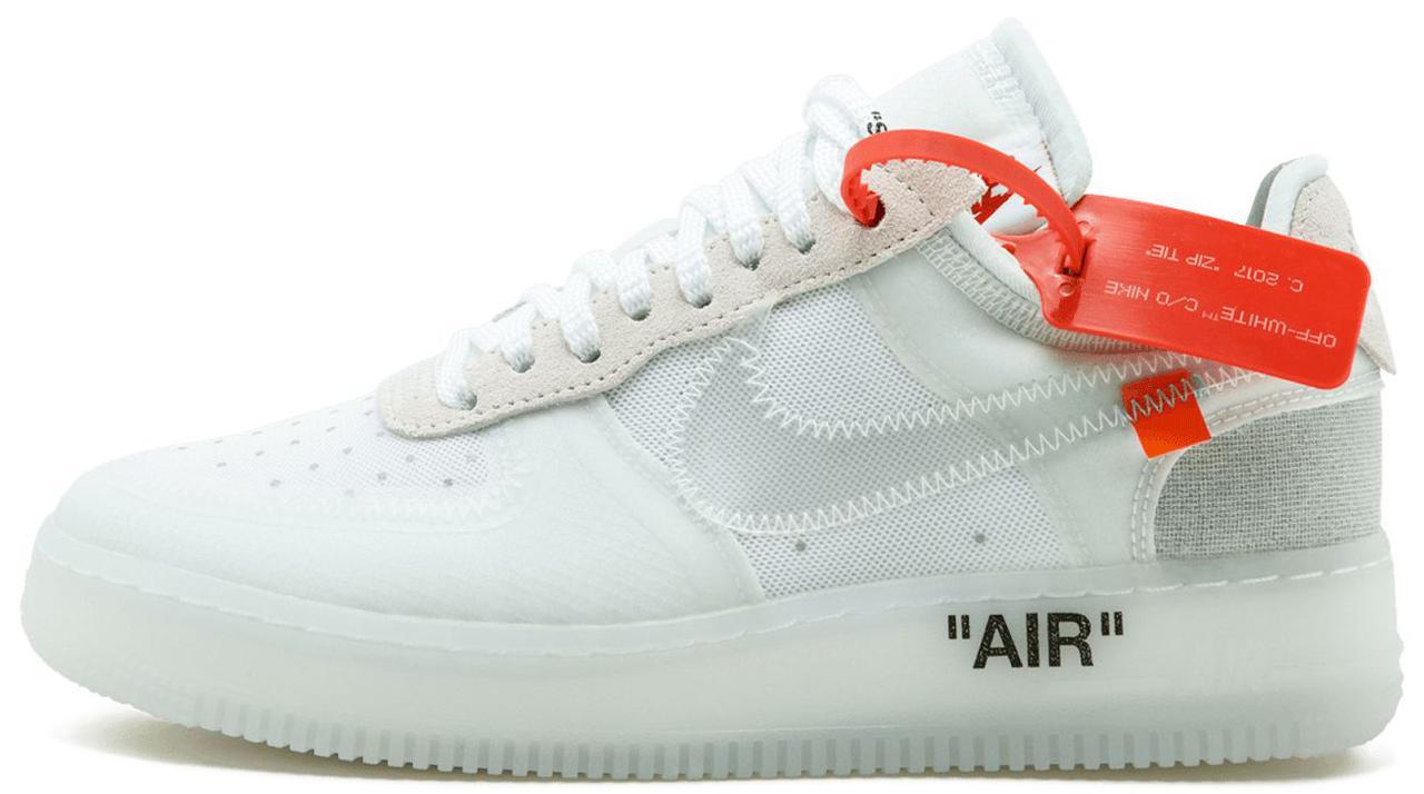 8e0ef157 Мужские кроссовки Nike x Off-White Air Force 1 Low Ice - Магазин обуви с