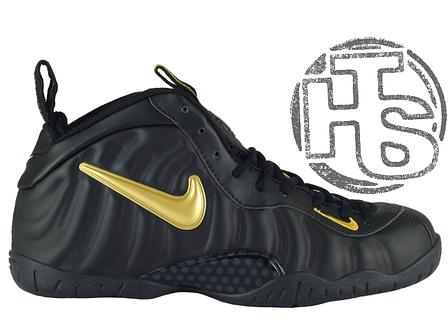 Мужские кроссовки Nike Air Foamposite Pro Black/Yellow 630304-071, фото 2