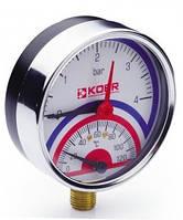 "Радиальный термоманометр Koer КМ.821R (1/2"") 4 бар"