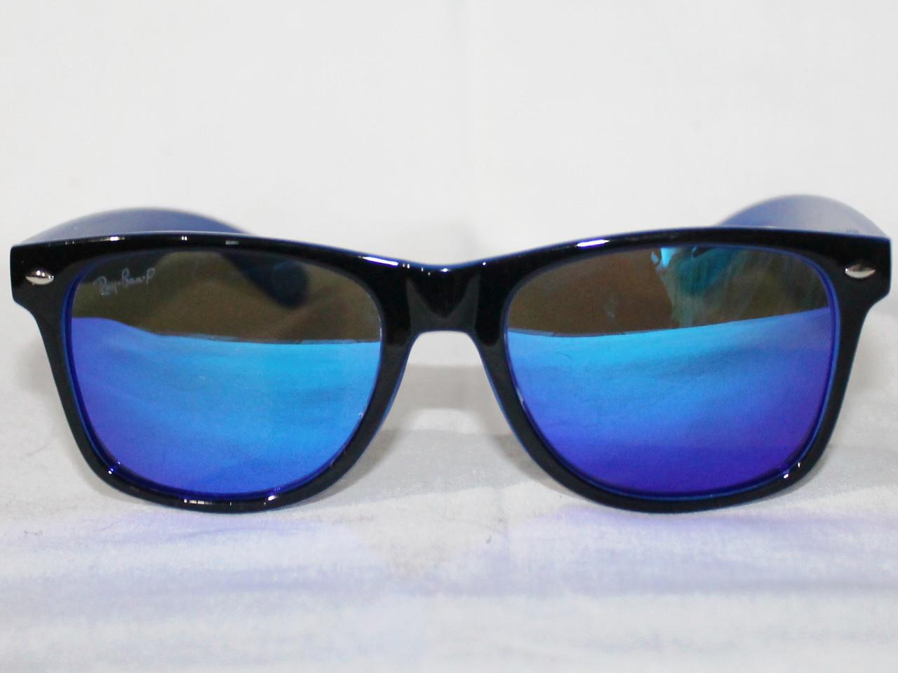 1f51baebc20f Очки Ray Ban Wayfarer 2140 черный синий зеркальные поляризационные реплика  - IF-Style в Одессе