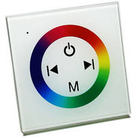 Контроллер для светодиодного освещения RGB 12В 12A (4A/канал) встраиваемый белый OEM