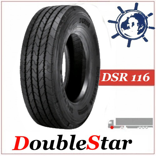 Шина DoubleStar DSR116 265/70R19.5 140/138L, грузовые шины на рулевую ось Китай