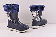 Сапоги для девочки с кожаными вставками на меху GFB A4-2 Размер:28