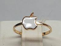 Золотое кольцо с эмалью. Артикул 300361Е, фото 1