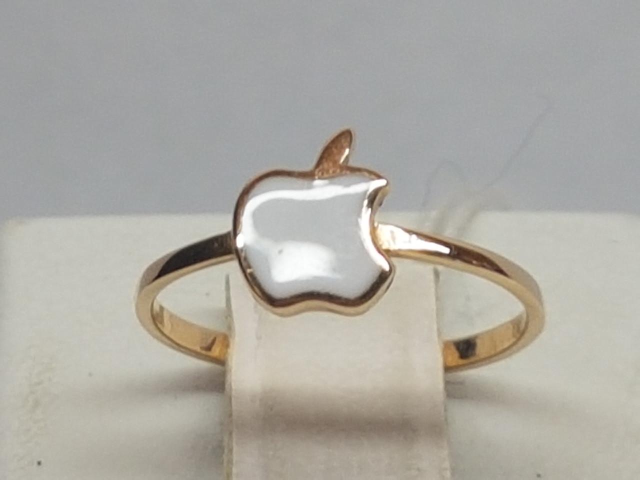 Золотое кольцо с эмалью. Артикул 300361Е
