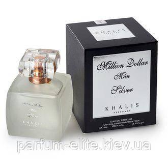 Мужская парфюмированная вода Khalis Million Dollar Silver 100ml