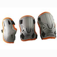 Защита для роллеров взрослая серый/оранж,8516