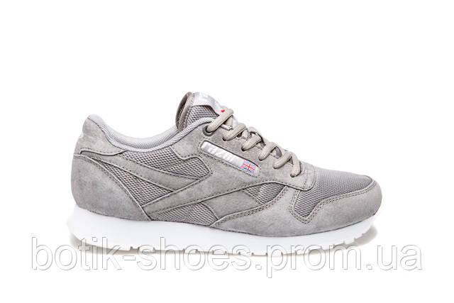 Женские замшевые серые кроссовки, копия Reebok Classic - интернет-магазин  обуви