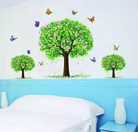 Интерьерная наклейка на стену -  Цветущие деревья