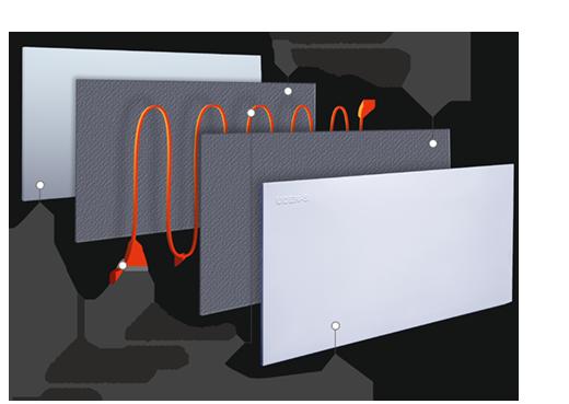 устройство керамического теплого плинтуса UDEN–S Uden–200