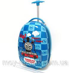 Детский чемодан дорожный на колесах «Паровозик Томас»