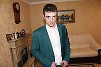 Мужской костюм бутылочного цвета