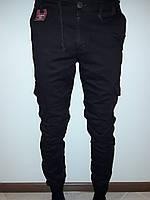 Джинсы мужские на резинке темно-коричневые 4610, фото 1