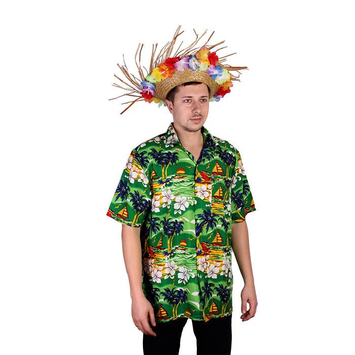7c7d2fcffa7 Гавайская рубашка зеленая