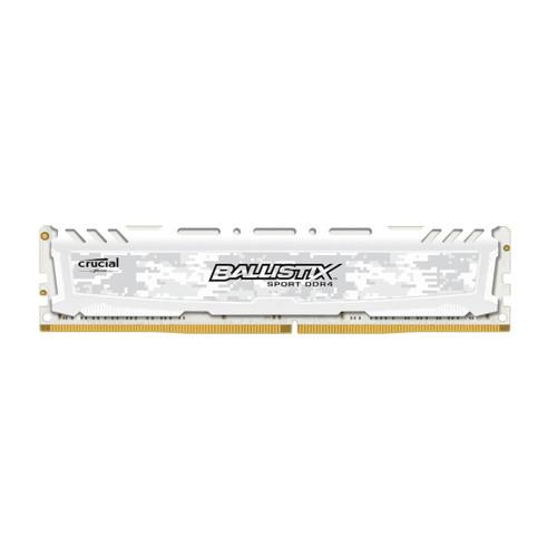 Оперативная память Crucial  DDR4 8GB 2666MHz Ballistix Sport LT White (BLS8G4D26BFSCK)