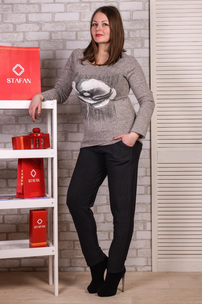 Женские лосины со стразиками на карманах Jujube B021-4 2XL-4XL. Размер