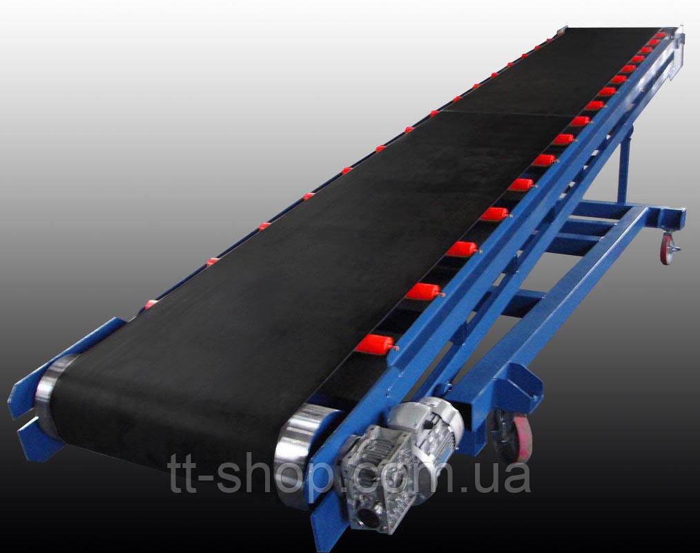 Ленточный конвейер длинной 5 м, ширина ленты 400 мм