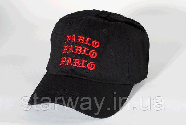 Кепка чёрная Pablo логотип вышивка