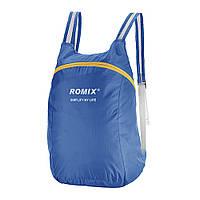 Легкий складной рюкзак для путешествий непромокаемый синий